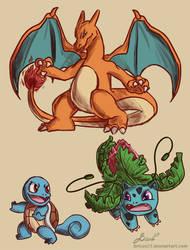 Pokemon doodles by Bricus27
