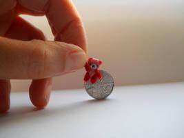 OOAK miniature micro jointed teddy Strawberry Bear by tweebears