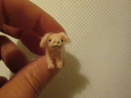 OOAK miniature collectible micro pig by tweebears