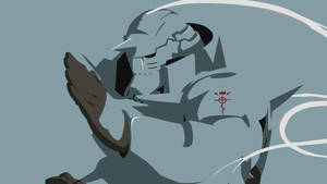 Alphonse Elric Simplified Wallpaper Light Blue V by tonyp2121