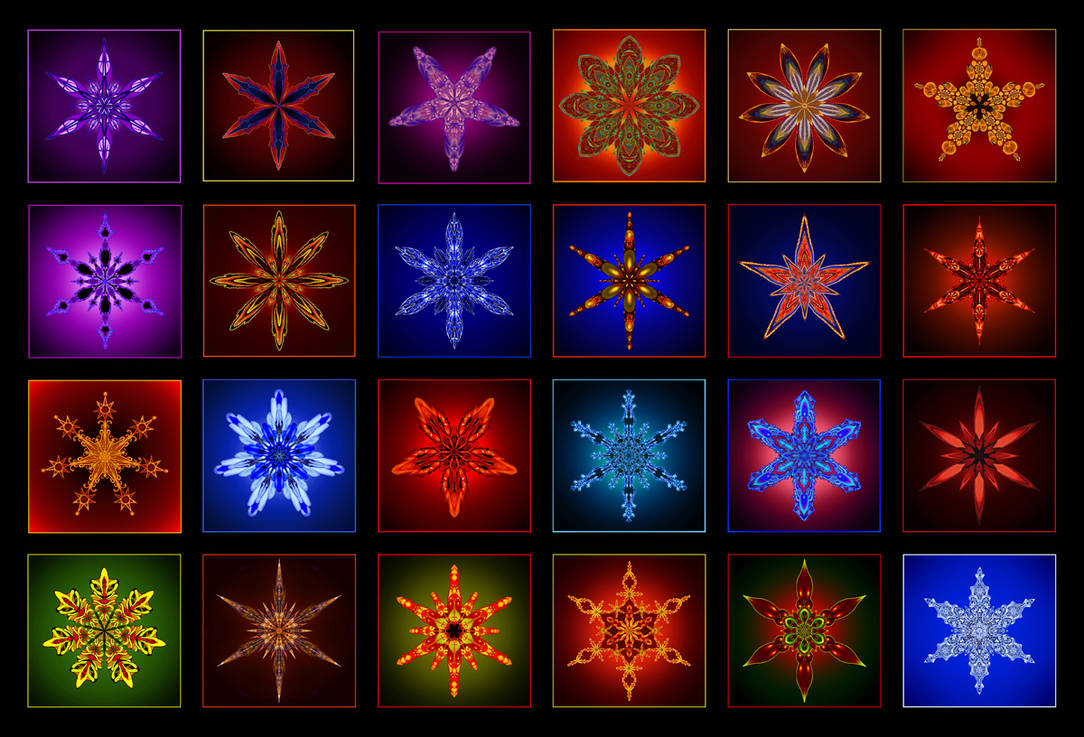 24 Days of Advent Stars Collage by Inianna