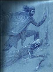 Aragorn and Baldor of Rohan before the Dark Door by bozac