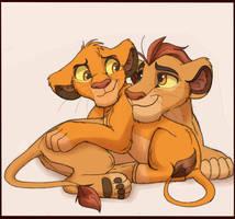 Kion and Cub Simba by Credens-Vita