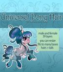 [P2U] Universal Pony Hair Pack - Addons to bases! by xaineko