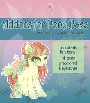 [P2U] Addons for pony base by xaineko
