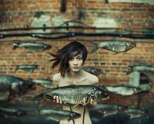 walk with fish by Ejik1977