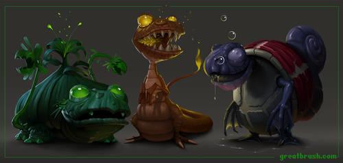 Pokemon redesign by ekarnopp