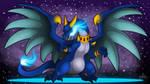 Birthday Gift : Blue Spitfire Mega Charizard X by WeirdHyenas