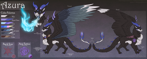 Commission : Azura Reference Sheet by WeirdHyenas