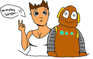 tim and moby fanart ship love XD by Craineberry