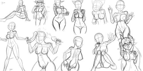 Pose Practice 1 by Kinathefox
