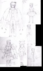 Sketch Dump: OC designs... by tabbyburger