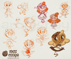 Miss Cookie Design Sketches by AronDraws