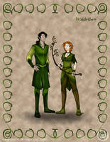 Folks: Wood Elves by wolfanita