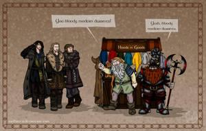 The Hobbit: Modern Dwarves by wolfanita