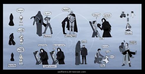 Star Wars: The Big Sheet of Small TFA Gags by wolfanita