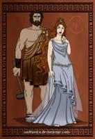 GodsOfAncientGreeceCouples: Hephaestus + Aphrodite by wolfanita
