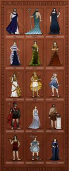 Gods of Ancient Greece by wolfanita