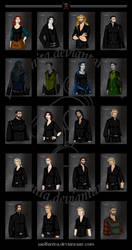 Witch Hunters Book One All Characters by wolfanita