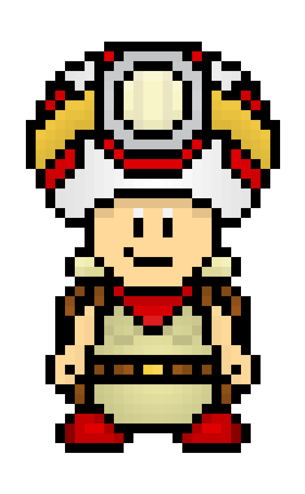 Toad Pixel Art Minecraft