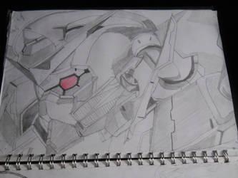 Gundam Exia from Gundam 00 by xXTrent