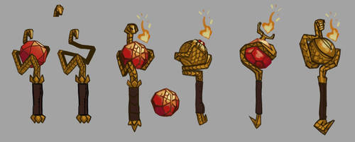 Dota2 weapon concept art by APesquera