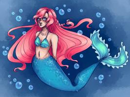 Mermaid. by Pinkystarpinky
