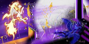 Princess Luna Vs Day Breaker VII by Darksly-z