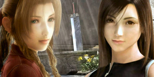 Aerith and Tifa by kracykfhf