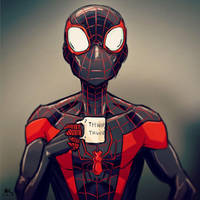 Mugshot Monday: Miles Morales by AndrewKwan
