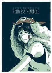 Princess Mononoke by AndrewKwan