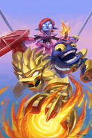 Skylanders Comic Cover Variant by JBellio