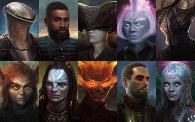 Pillars of Eternity Portraits by jasonseow