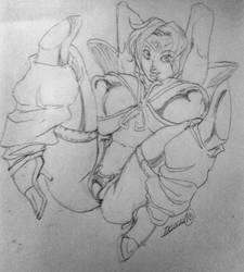 Dream Hunter Rem Sketch by ghdmv