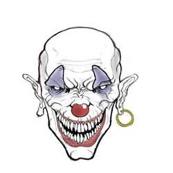 Evil Clown by Maxduro