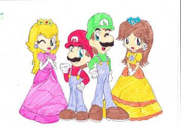 Super Mario Bros by cruzflor1970