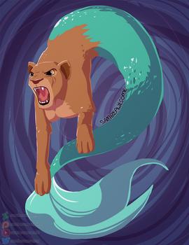 Mermaid Goes RAWR by sambeawesome