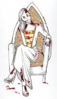 Medieval Zombie Princess by sambeawesome