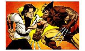 Karate Kid vs Wolverine by spidermanfan2099