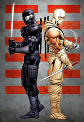 SnakeEyes and StormShadow by spidermanfan2099