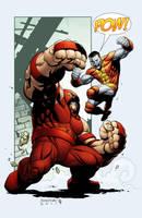 Juggernaut vs Colossus by spidermanfan2099