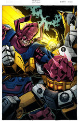 Galactus vs Unicron by spidermanfan2099