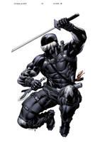 SnakeEyes StormShadow 13 cover B by spidermanfan2099