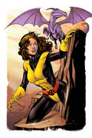 Kitty Pryde and Lockheed by spidermanfan2099