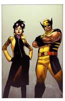 Wolverine and Jubilee by spidermanfan2099