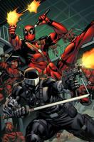 Snake Eyes vs Deadpool by spidermanfan2099