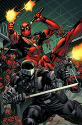 Snake Eyes vs Deadpool by spidermanfan2099