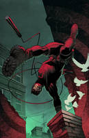 Daredevil Cover coloured by spidermanfan2099