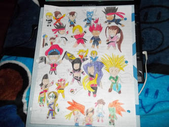 Street Fighter Party Chibies by teamspike1