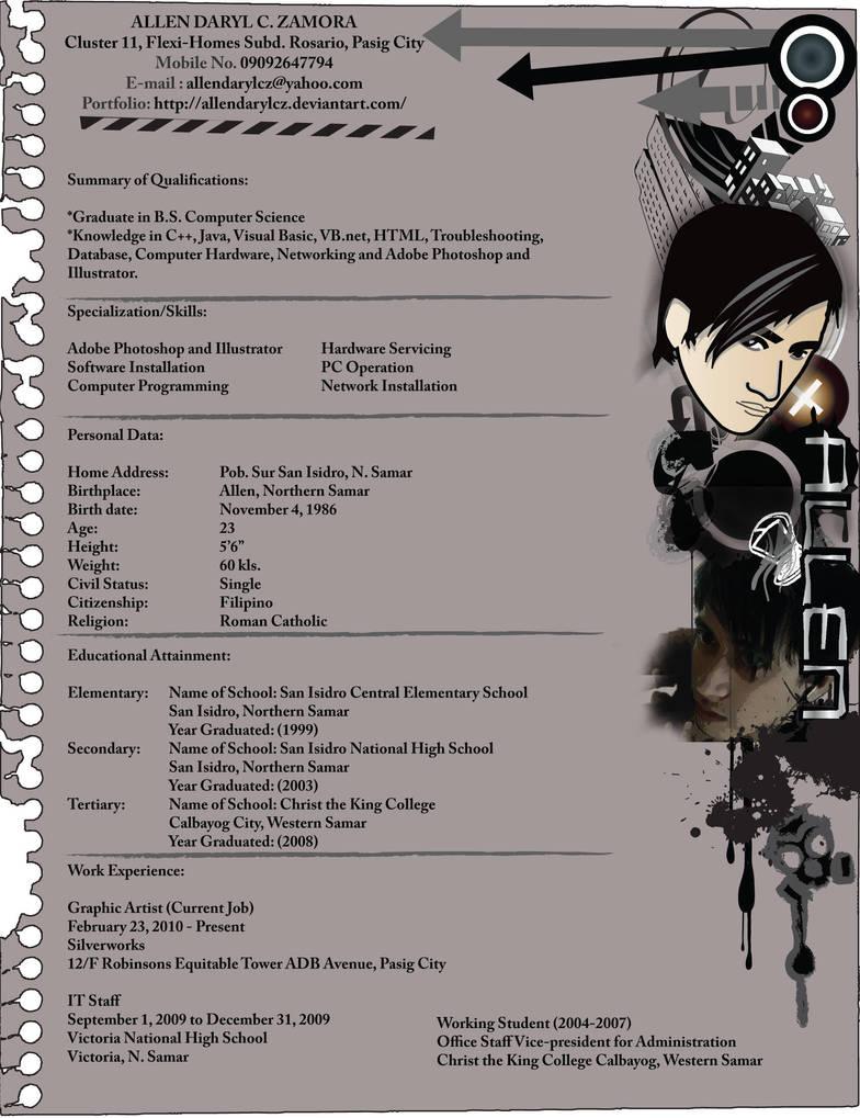 My Resume by allendarylcz
